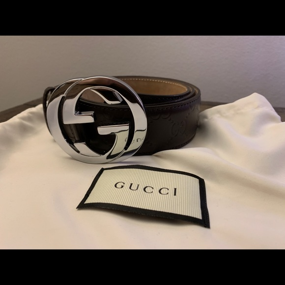 Gucci Other - Gucci belt Brown embossed leather